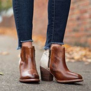 TOWN AND COUNTRY: Half & Half Leather Boots